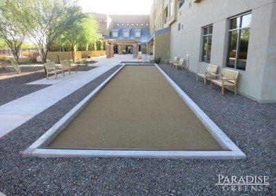 Tan Artificial Grass Bocce Ball Court in San Tan, AZ