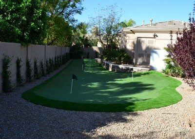 Custom Putting Green in Paradise Valley, AZ