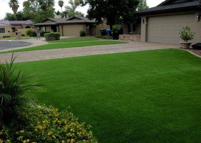Front Yard Synthetic Lawn in Phoenix, AZ