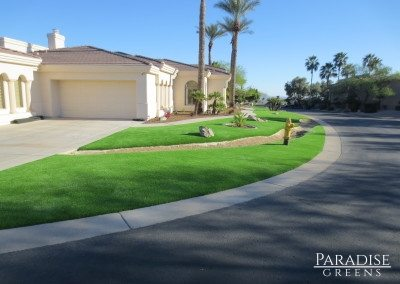 Synthetic Grass Front Yard in Avondale, AZ