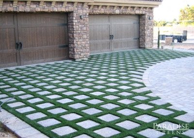 Artificial Grass Driveway in Paradise Valley, AZ