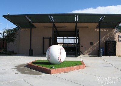 Artificial Grass Around Baseball at Entrance to  City of Surprise, AZ