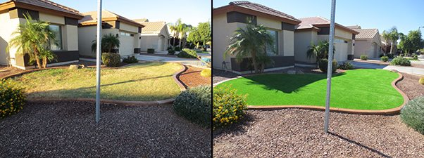 Artificial Lawn Before and After