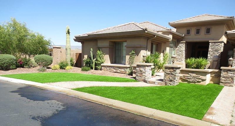 synthetic front yard