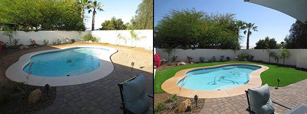 artificial grass pool