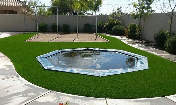 artificial grass trampoline