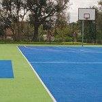 Colored basketball turf