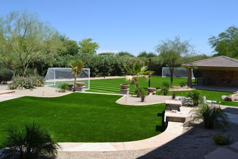 Residential Backyard Soccer Field in Paradise Valley, AZ