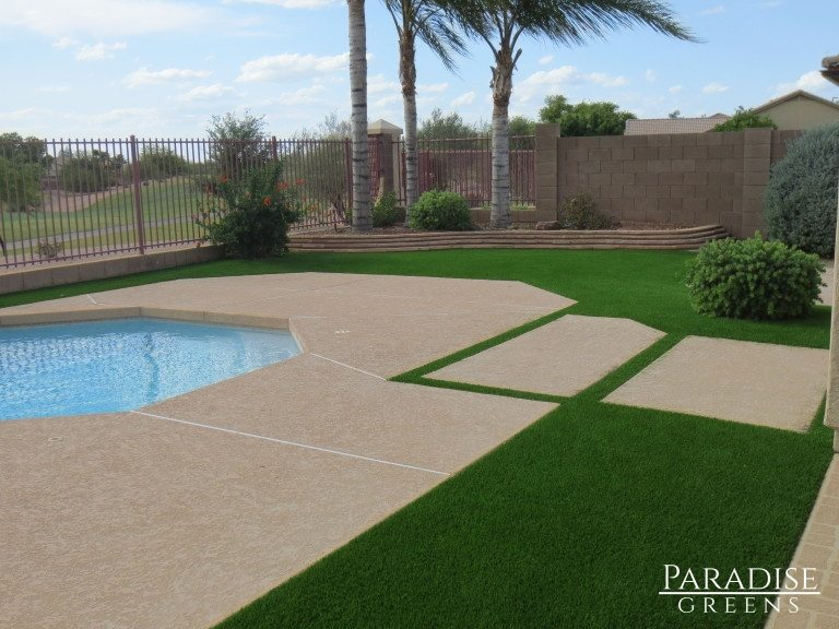 Synthetic Turf Around Pool in Fountain Hills, AZ