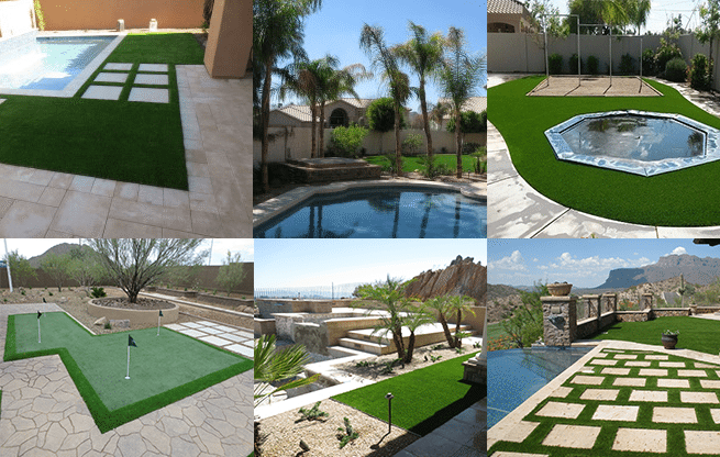 Arizona Landscaping Design Ideas Featuring Artificial Grass