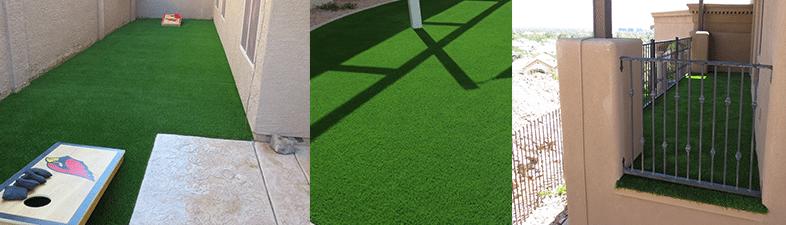 Artificial grass indoors