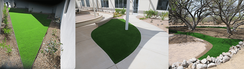 Artificial grass interesting spaces