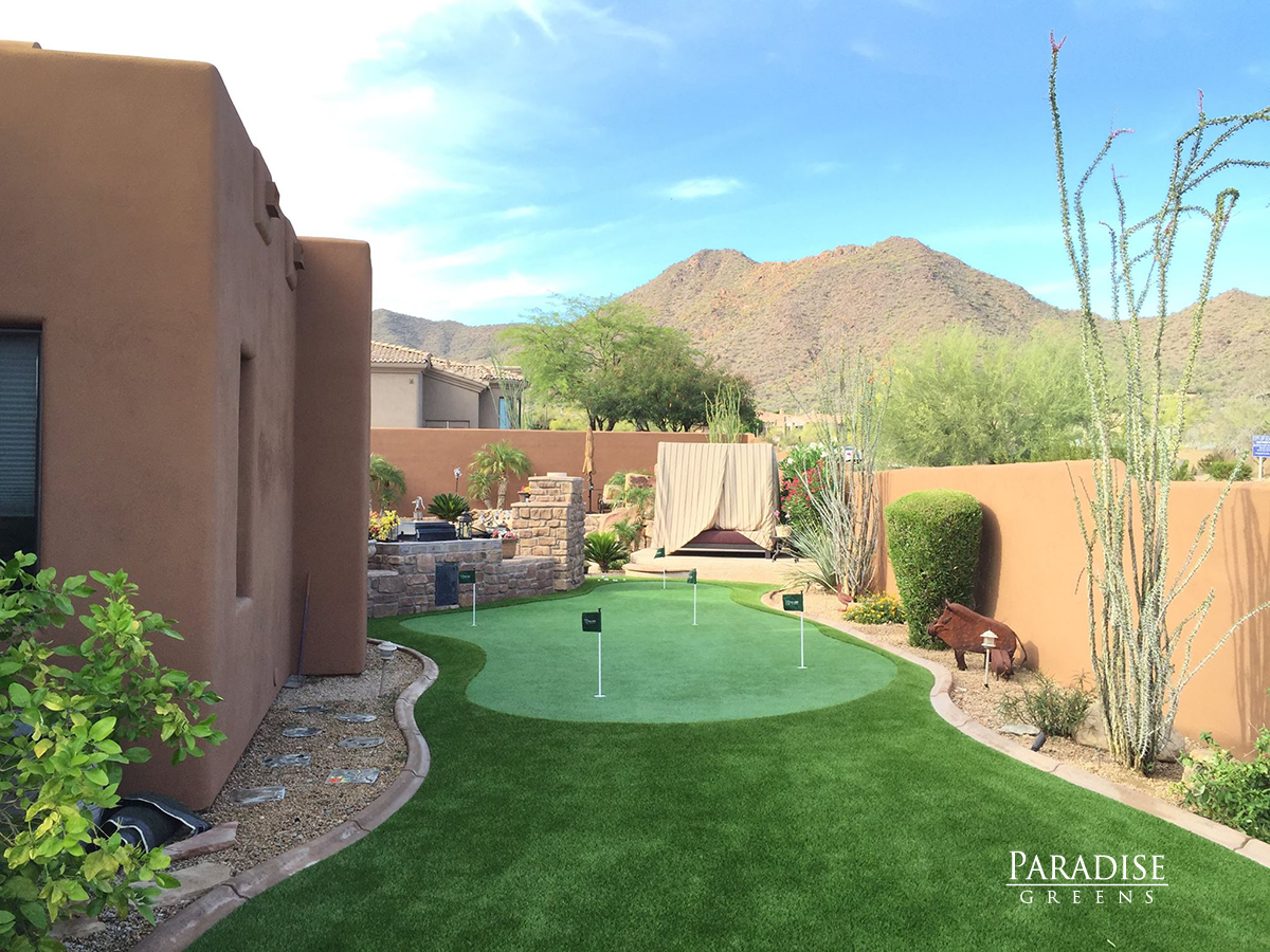 Best putting green in Arizona mountian views