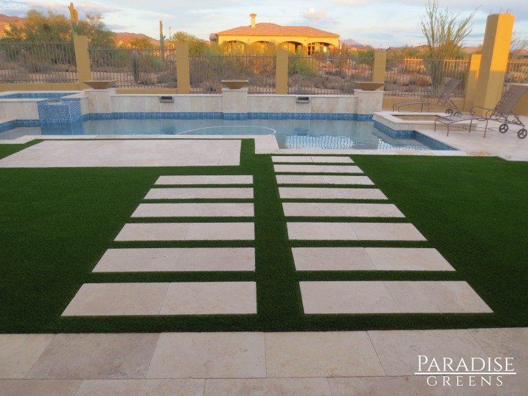 Modern Artificial Grass Design in Arizona