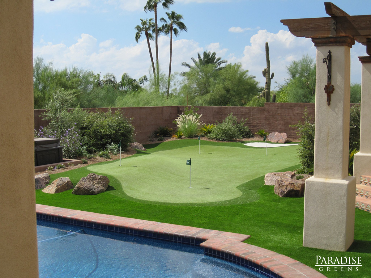 the best custom putting greens in arizona paradise greens