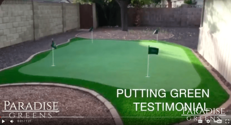 Phoenix Putting Green Testimonial