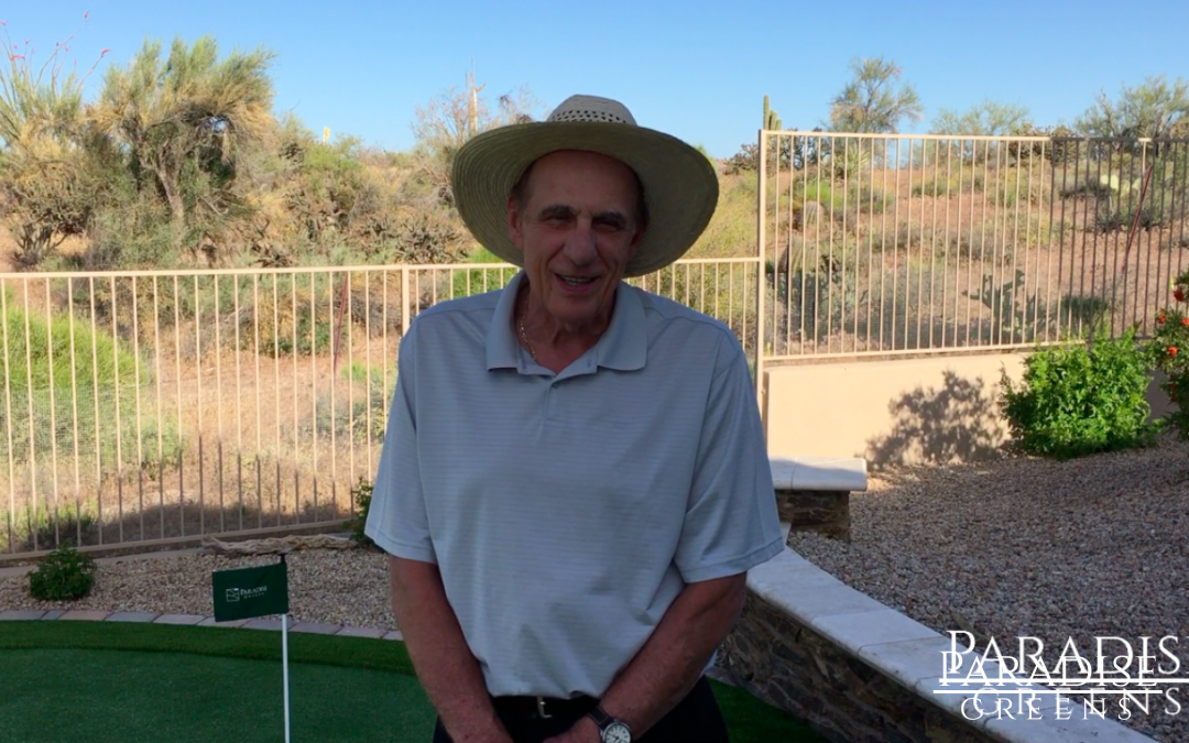 Phoenix Resident Is Excited To Put on His New Putting Green!